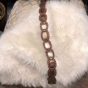 handmade Accessories - Boho leather and steel handmade belt